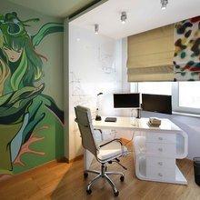 Фотография: Кабинет в стиле Лофт, Современный, Эклектика, Квартира, Проект недели – фото на InMyRoom.ru