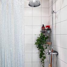 Фотография: Ванная в стиле Скандинавский, Малогабаритная квартира, Квартира, Цвет в интерьере, Дома и квартиры, Белый, Гетеборг – фото на InMyRoom.ru