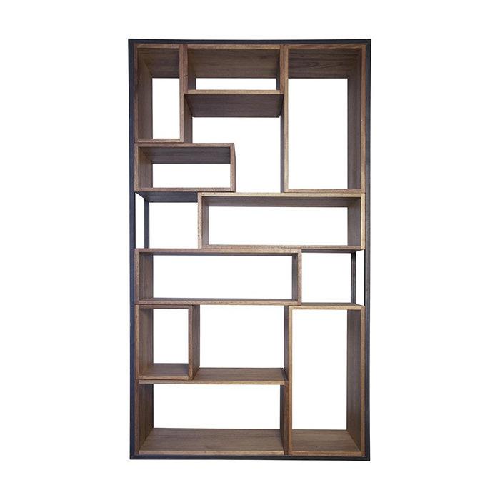 Книжный Стеллаж Bauhaus (Грецкий Орех, Металл, Dark Walnut)