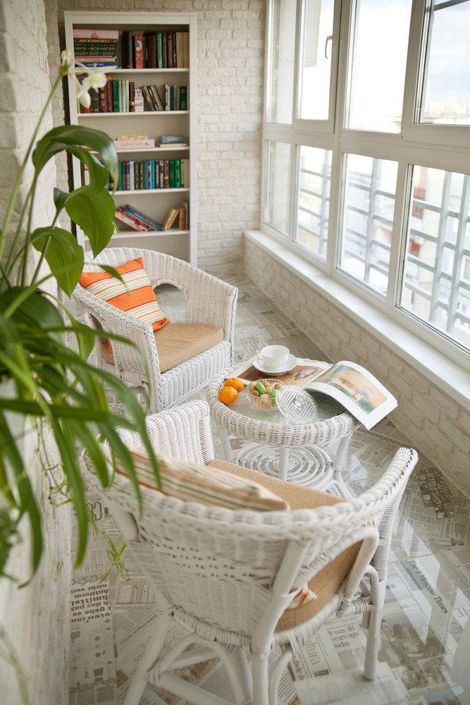 как сделать на балконе место для отдыха