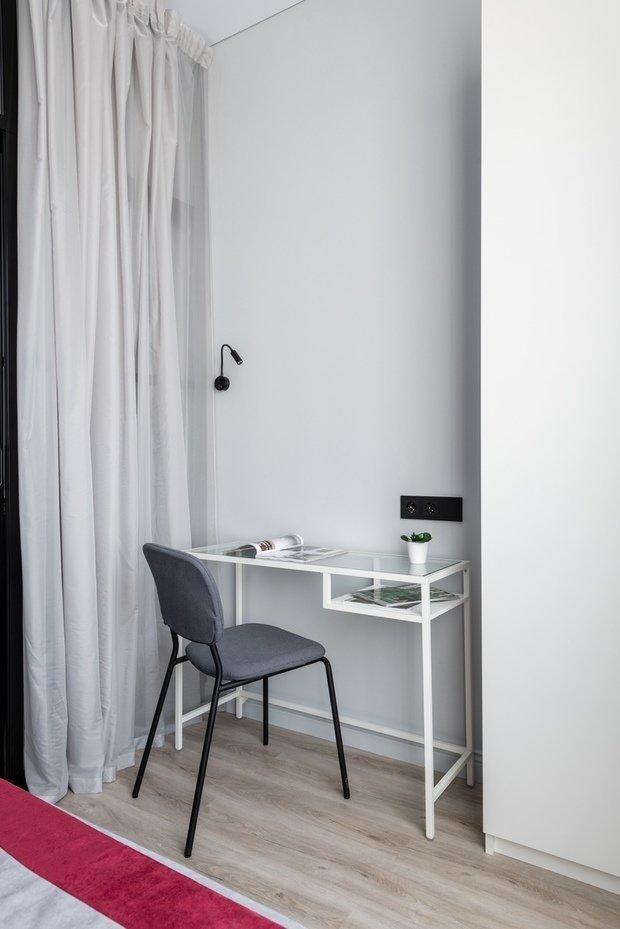 Фотография: Кабинет в стиле Современный, Малогабаритная квартира, Квартира, Студия, Проект недели, Москва, Анастасия Лаппо – фото на INMYROOM