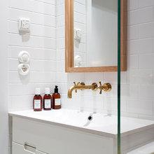 Фотография: Ванная в стиле Современный, Скандинавский, Малогабаритная квартира, Квартира, Дома и квартиры, Стокгольм – фото на InMyRoom.ru
