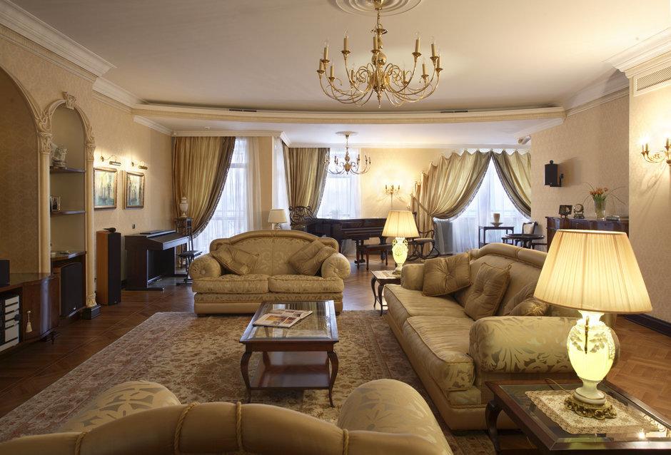 Фотография: Гостиная в стиле Прованс и Кантри, Классический, Современный, Квартира, Дома и квартиры, Модерн, Ар-нуво – фото на InMyRoom.ru