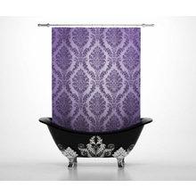 Штора для ванной: Винтажный узорчик
