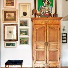 Фотография: Декор в стиле Кантри, Декор интерьера, Квартира, Терраса, Дома и квартиры, Лестница, Картины, Балки – фото на InMyRoom.ru