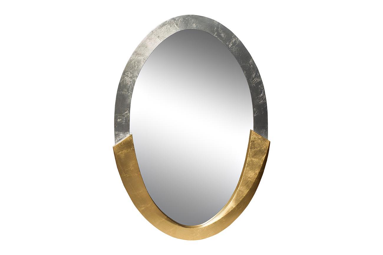 Купить Зеркало овальное золотисто-серебристое, inmyroom