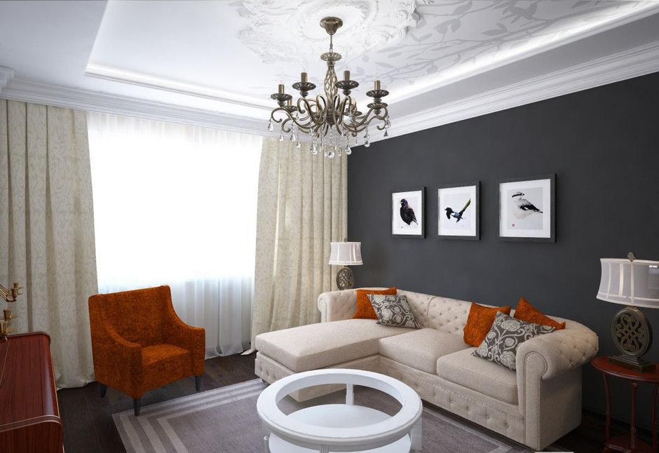 Фотография: Гостиная в стиле Прованс и Кантри, Классический, Эклектика, Квартира, Проект недели – фото на InMyRoom.ru