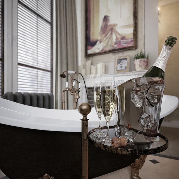 Фотография: Ванная в стиле Прованс и Кантри, Эклектика, Классический, Дом, Дома и квартиры, Прованс, Проект недели – фото на InMyRoom.ru