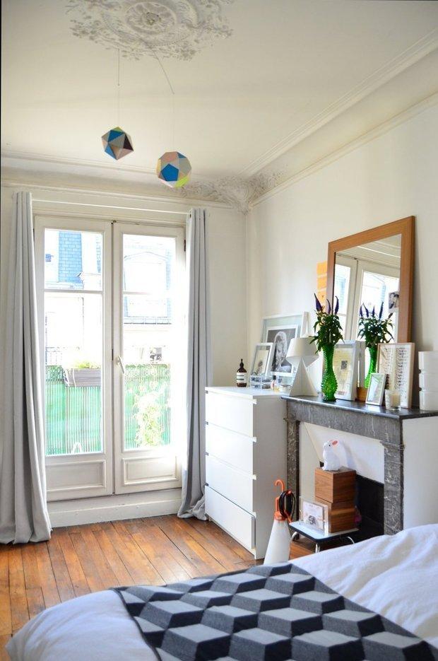 Фотография: Спальня в стиле Скандинавский, Малогабаритная квартира, Квартира, Дома и квартиры, Минимализм, Ретро – фото на InMyRoom.ru