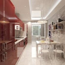 Фото из портфолио Проект типовой 1-комнатной квартиры – фотографии дизайна интерьеров на InMyRoom.ru