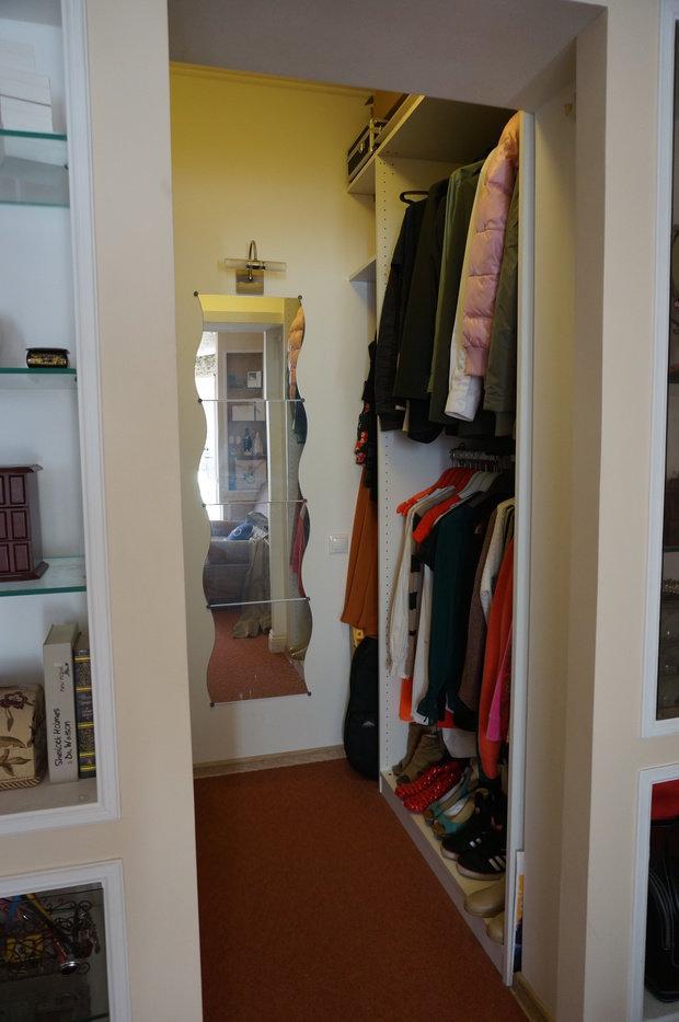 Фотография: Прихожая в стиле Современный, Гардеробная, Квартира, Дома и квартиры, Переделка, Ремонт на практике – фото на InMyRoom.ru