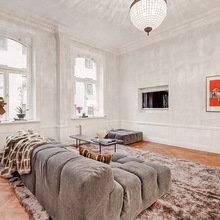 Фотография: Гостиная в стиле Скандинавский, Квартира, Швеция, Цвет в интерьере, Дома и квартиры, Белый – фото на InMyRoom.ru