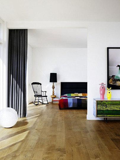 Фотография: Спальня в стиле Эклектика, Декор интерьера, Декор дома, Ширма, Перегородки – фото на InMyRoom.ru