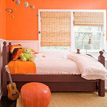 Фотография: Детская в стиле Кантри, Декор интерьера, Дизайн интерьера, Цвет в интерьере, Оранжевый – фото на InMyRoom.ru