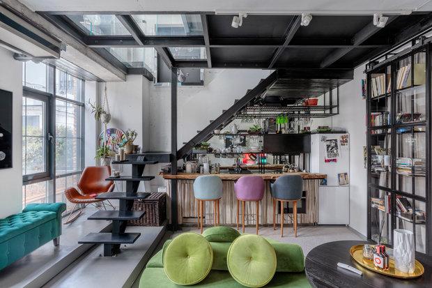 Фотография: Кухня и столовая в стиле Лофт, Квартира, Проект недели, Москва, 3 комнаты, 60-90 метров, Мария Полянская – фото на INMYROOM
