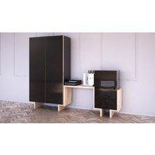 Шкаф bragindesign Ecocomb-1 ясень черный глянец