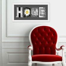 Фотокартина HOME - слово из фотобукв
