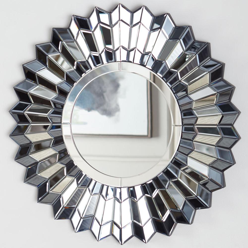 Купить Настенное зеркало арктур в раме из плиссированных граней, inmyroom, Россия