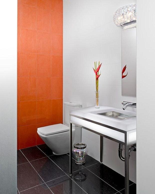 Фотография: Ванная в стиле Современный, Декор интерьера, Декор дома, Цвет в интерьере – фото на InMyRoom.ru