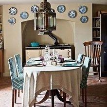Фотография: Кухня и столовая в стиле Кантри, Декор интерьера, Мебель и свет, Светильник, Лампа, Мозаика, Восток, Подсвечник – фото на InMyRoom.ru