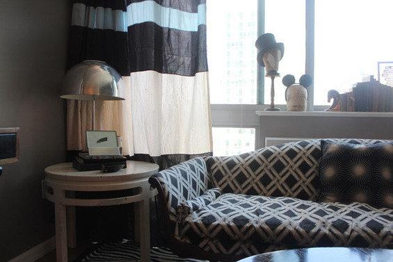 Фотография: Мебель и свет в стиле Современный, Малогабаритная квартира, Квартира, Дома и квартиры, Нью-Йорк, Ар-деко, Индустриальный – фото на INMYROOM