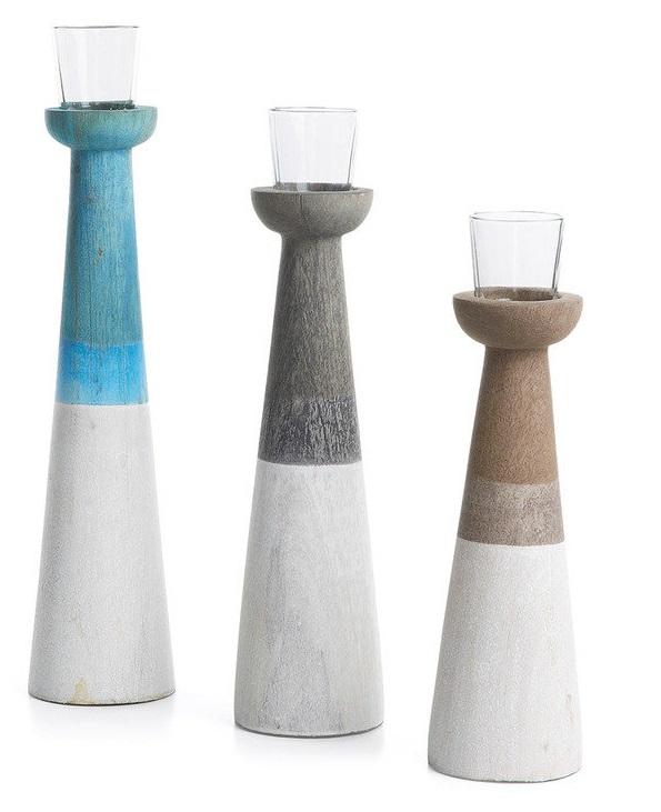 Набор подсвечников Julia Grup Vikas со стеклянными стаканчиками для свеч