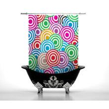 Шторка в ванну: Цветные круги