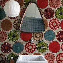 Фотография: Ванная в стиле Современный, Декор интерьера, Декор дома, Обои, Стены – фото на InMyRoom.ru