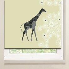Рулонные шторы в гостиную: Изысканный жираф