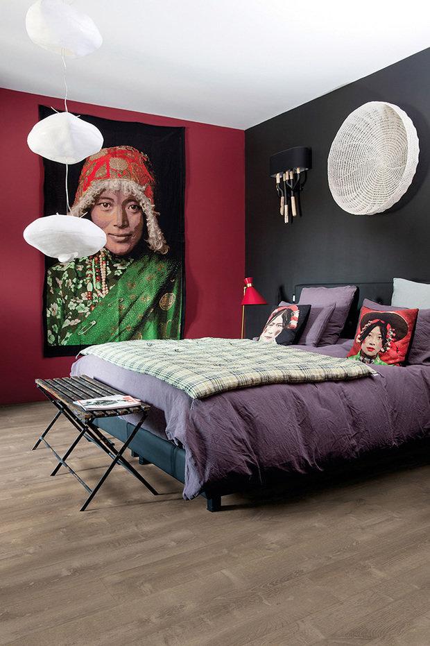 Фотография: Спальня в стиле Восточный, Советы, Ремонт на практике, напольное покрытие, отделка пола, Quick Step, пвх-плитка – фото на INMYROOM