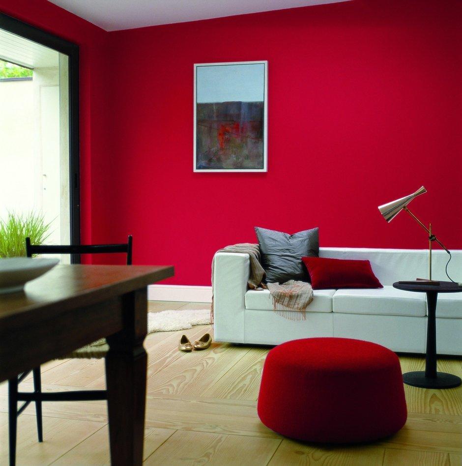 Фотография: Гостиная в стиле Современный, Декор интерьера, Дизайн интерьера, Цвет в интерьере, Красный – фото на InMyRoom.ru