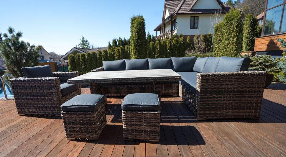 Садовая мебель из ротанга комплект сан-ремо
