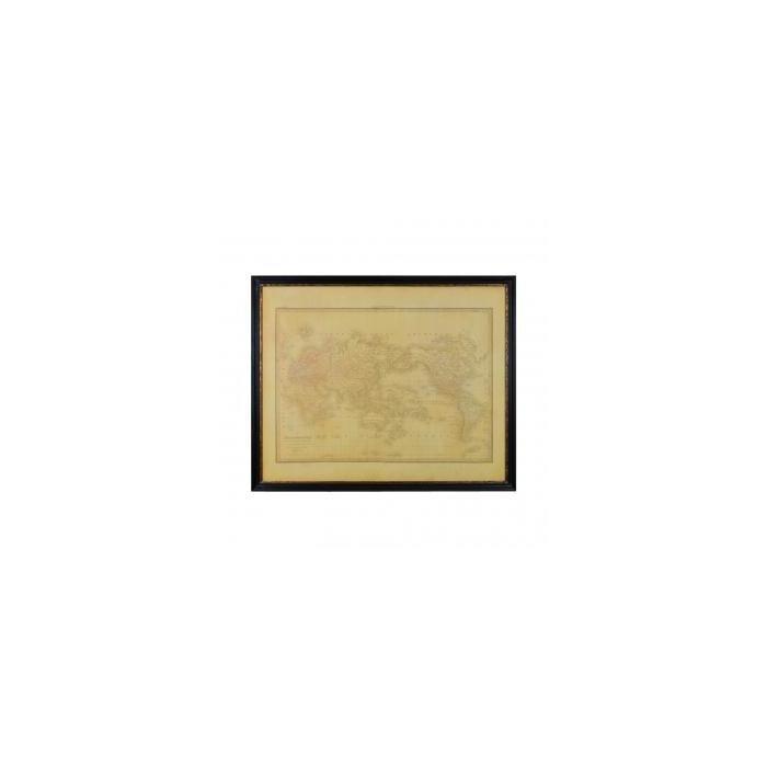 Декор на стену карта Wood Framed World Map