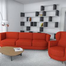 Фото из портфолио Red In White – фотографии дизайна интерьеров на InMyRoom.ru