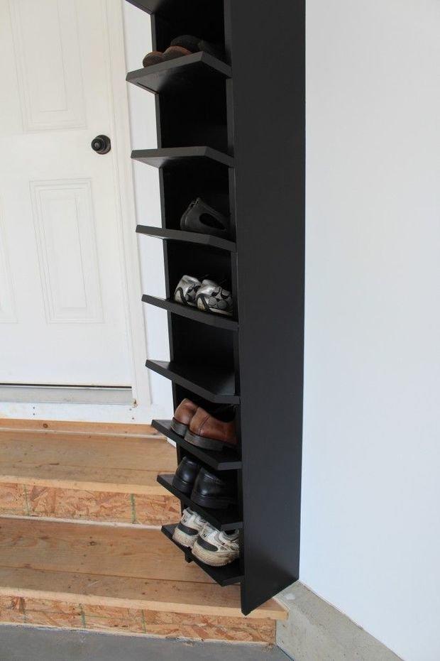 Фотография: Ванная в стиле Современный, Прихожая, Советы, хранение обуви, идеи хранения обуви – фото на InMyRoom.ru