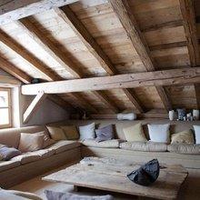 Фотография: Гостиная в стиле Кантри, Современный, Чердак, Мансарда – фото на InMyRoom.ru