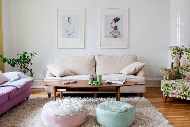 Фотография: Гостиная в стиле Скандинавский, Декор интерьера, Дизайн интерьера, Цвет в интерьере, Белый – фото на InMyRoom.ru