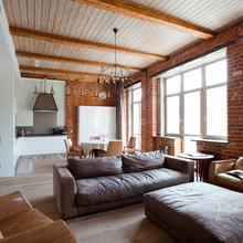 Фотография: Гостиная в стиле Лофт, Квартира, Проект недели – фото на InMyRoom.ru