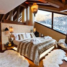 Фотография: Спальня в стиле Скандинавский, Дом, Дома и квартиры, Большие окна, Шале – фото на InMyRoom.ru