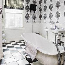 Фотография: Ванная в стиле Эклектика, Интерьер комнат, Декоративная штукатурка – фото на InMyRoom.ru