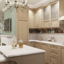 Фотография: Кухня и столовая в стиле Кантри, Квартира, Дома и квартиры, Проект недели – фото на InMyRoom.ru