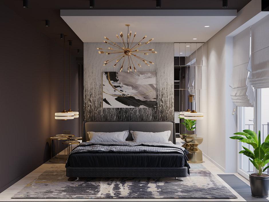 Фотография: Спальня в стиле Современный, Квартира, Проект недели, Смоленск, Монолитный дом, 3 комнаты, Более 90 метров, Никита Михайлов, Lineika Design – фото на InMyRoom.ru