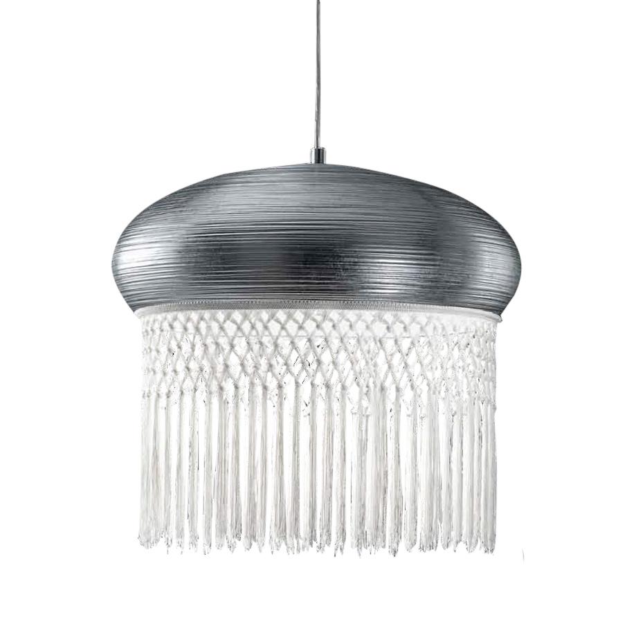 Купить Подвесной светильник mm Lampadari Curtain из металла серебряного цвета, inmyroom, Италия
