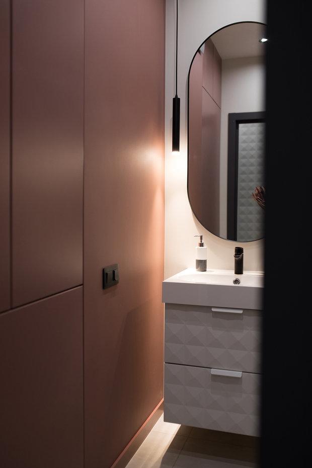 Фотография: Ванная в стиле Современный, Квартира, Студия, Проект недели, Санкт-Петербург, 1 комната, до 40 метров, Нина Иваненко – фото на INMYROOM
