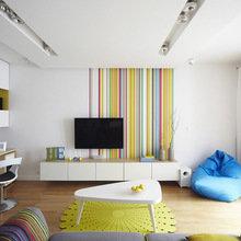 Фотография: Гостиная в стиле Современный, Квартира, Цвет в интерьере, Дома и квартиры, Белый – фото на InMyRoom.ru