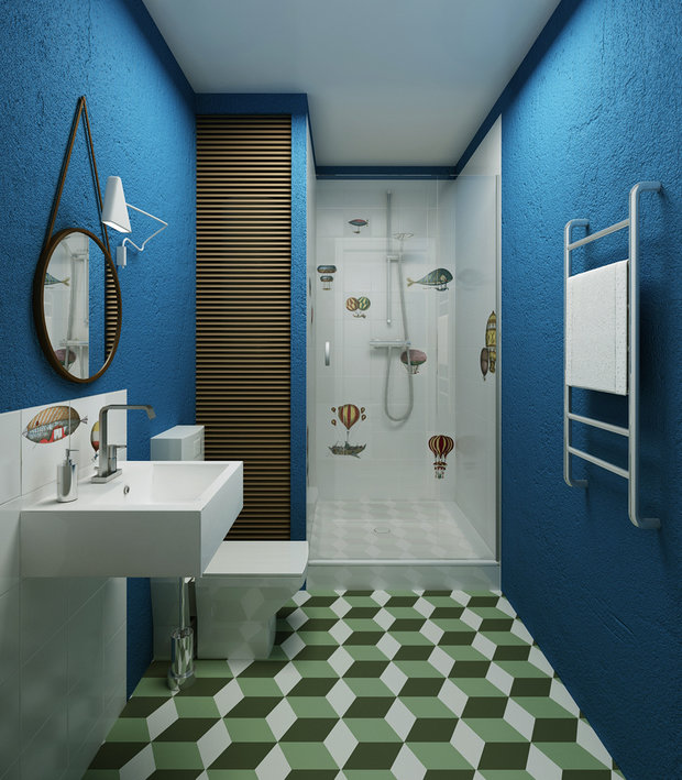 Фотография: Ванная в стиле Современный, Декор интерьера, Декор дома, Плитка, Ремонт на практике – фото на InMyRoom.ru