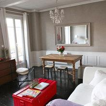 Фотография: Гостиная в стиле Кантри, Малогабаритная квартира, Квартира, Дома и квартиры, Переделка, Париж – фото на InMyRoom.ru