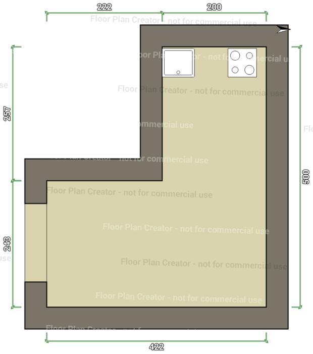 Помогите расставить мебель в кухне-гостиной