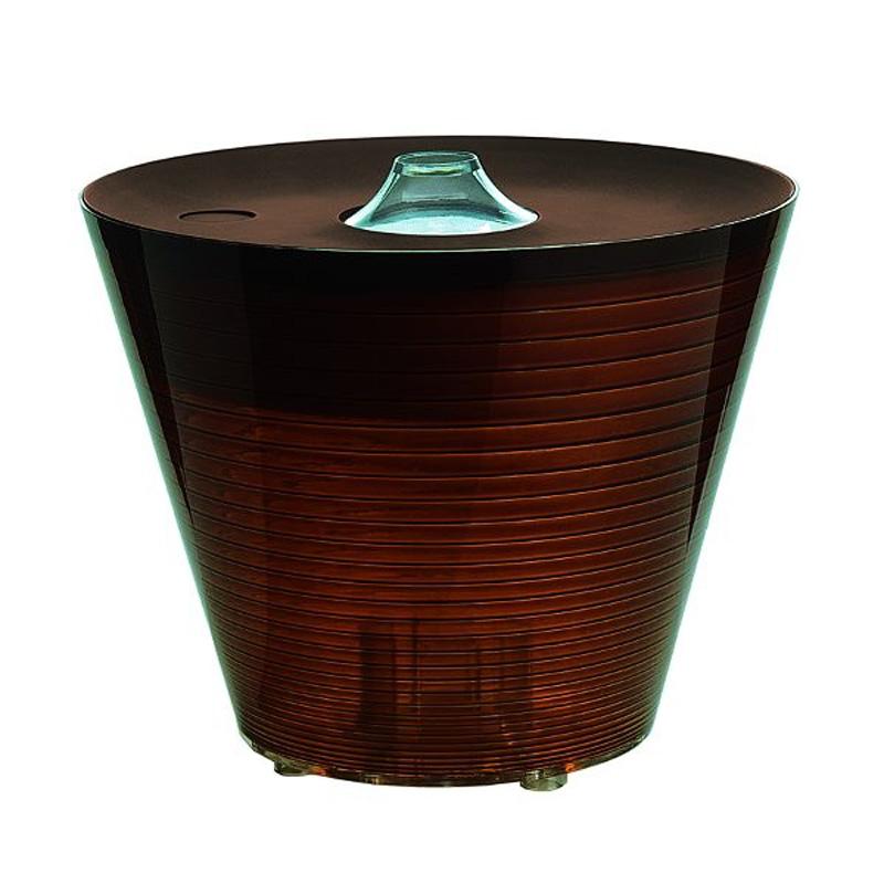 Настольная лампа-контейнер Rotaliana Multipot янтарного цвета
