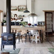 Фотография: Кухня и столовая в стиле Скандинавский, Кантри, Интерьер комнат – фото на InMyRoom.ru